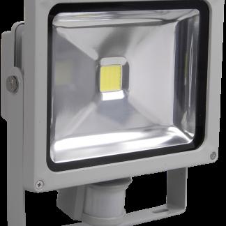 Прожектор светодиодный СДО 01-10Д (детектор) чип IP44 серый IEK