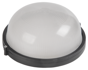 Светильник НПП1101 круг 100Вт IP54 черный IEK