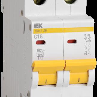 Автоматический выключатель ВА47-29 2Р 1А 4,5кА х-ка D IEK
