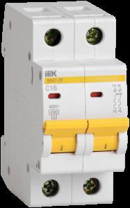 Автоматический выключатель ВА47-29 2Р 2А 4,5кА х-ка D IEK