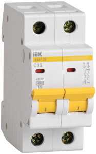 Автоматический выключатель ВА47-29 2Р 10А 4,5кА х-ка D IEK
