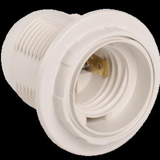 Патрон с кольцом Ппл27-04-К12 пластик Е27 белый (индивидуальный пакет) IEK