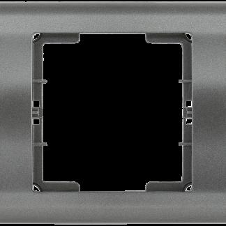 Рамка 3-местная горизонтальная РГ-3-БА BOLERO антрацит IEK