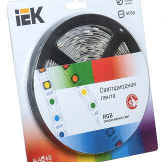 Лента светодиодная 5м блистер LSR-5050RGB60-14,4-IP20-12V IEK