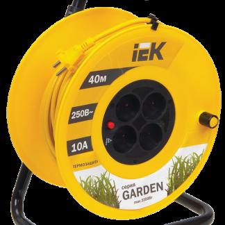 Катушка УК40 с термозащитой 4 места 2Р/40м 2х1,0мм2 Garden IEK
