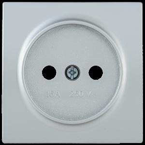 Накладка розетка НР-1-0-БС без заземляющего контакта BOLERO серебряный IEK