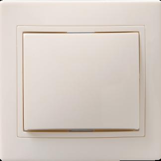Выключатель 1-клавишный проходной ВСп10-1-0-ККм 10А КВАРТА кремовый IEK