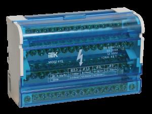 Шины на DIN-рейку в корпусе (кросс-модуль) ШНК 4х15 3L+PEN IEK