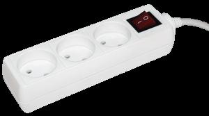 Удлинитель У3К-выкл. 3 места 2Р/5метров 2х0,75мм2 10А/250 IEK