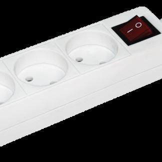 Удлинитель У3К-выкл. 3 места 2Р/3метра 2х0,75мм2 10А/250 IEK