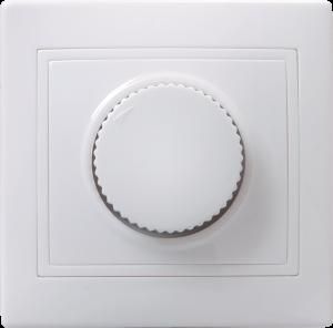 Светорегулятор поворотный ВСР10-1-0-КБ КВАРТА белый IEK