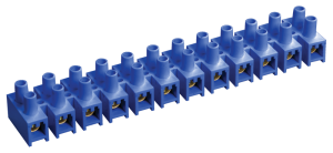 Зажим контактный винтовой ЗВИ-3 н/г 1,0-2,5 мм2 12пар синий IEK