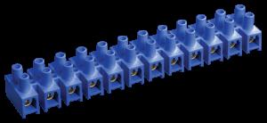 Зажим контактный винтовой ЗВИ-5 н/г 1,5-4,0мм2 12пар синий IEK