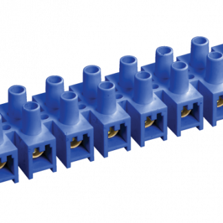 Зажим контактный винтовой ЗВИ-10 н/г 2,5-6мм2 12пар синий IEK