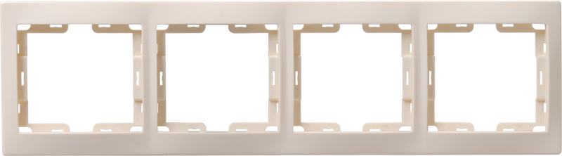 Рамка 4-местная вертикальная РВ-4-ККм КВАРТА кремовый IEK