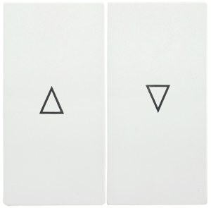 Накладка 2 клавиши для жалюзи HB-1-5-ББ BOLERO белый IEK