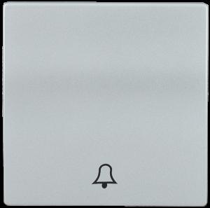 Накладка 1 клавиша для кнопочного звонка HB-1-4-БС BOLERO серебряный IEK