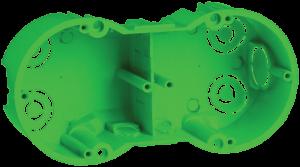 Коробка установочная КМ40023 2-х местная 141х70x45мм для полых стен (с саморезами и металлическими лапками) IEK
