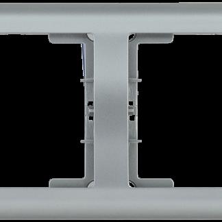 Рамка 4-местная горизонтальная РГ-4-БС BOLERO серебряный IEK