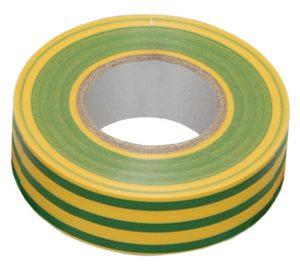 Изолента 0,13х15мм желто-зеленая 10м IEK
