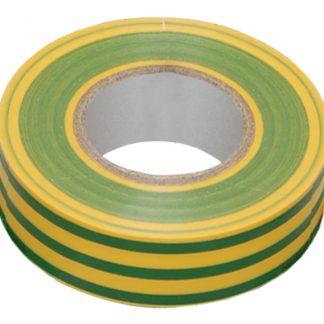 Изолента 0,18х19мм желто-зеленая 20м ИЭК