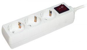 Удлинитель У03К-выкл. 3 места 2Р+PЕ/3метра 3х1мм2 16А/250 IEK
