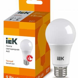 Лампа светодиодная ECO A60 шар 7Вт 230В 6500К E27 IEK