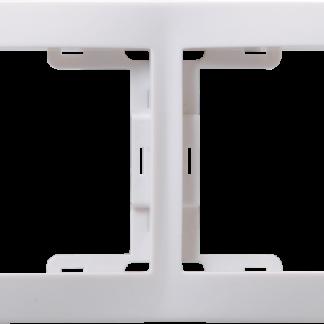 Рамка 2-местная горизонтальная РГ-2-КБ КВАРТА белый IEK