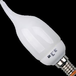 Лампа энергосберегающая КЭЛ-CВ свеча Е14 9Вт 4000К (ПРОМОПАК 6шт) IEK