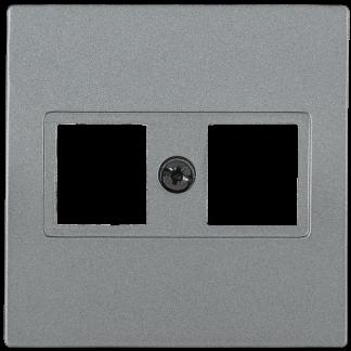 Накладка компьютерная 2-ая НK45-2-БА RJ45 Cat5e BOLERO антрацит IEK