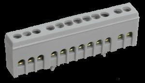 """Шина L """"фаза"""" в корпусном изоляторе на DIN-рейку ШНИ-6х9-8-К-Ср IEK"""