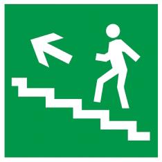 """Самоклеящаяся этикетка 50х50мм """"Направление к эвакуационному выходу (по лестнице налево вверх)"""" IEK"""