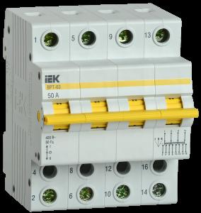 Выключатель-разъединитель трехпозиционный ВРТ-63 4P 50А IEK