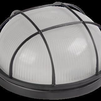 Светильник НПП1302 круг с решеткой 60Вт IP54 черный IEK