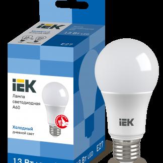Лампа светодиодная ECO A60 шар 13Вт 230В 6500К E27 IEK