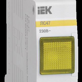 Сигнальная лампа ЛС-47 (желтая) (неон) IEK
