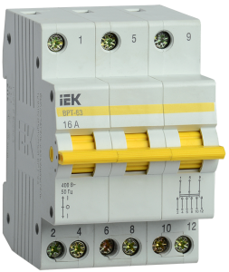 Выключатель-разъединитель трехпозиционный ВРТ-63 3P 16А IEK