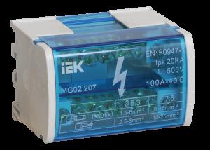 Шины на DIN-рейку в корпусе (кросс-модуль) ШНК 2х7 L+PEN IEK