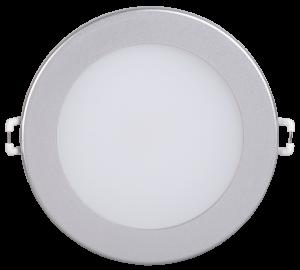 Светильник светодиодный ДВО 1603 круг 7Вт 3000K IP20 серебро IEK