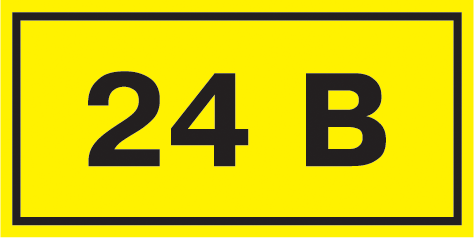"Самоклеящаяся этикетка 40х20мм символ ""24В"" IEK"