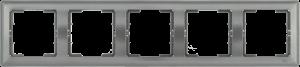 Рамка 5-местная горизонтальная РГ-5-БА BOLERO антрацит IEK