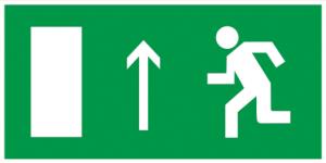 """Самоклеящаяся этикетка 100х50мм """"Направление к эвакуационному выходу прямо"""" IEK"""