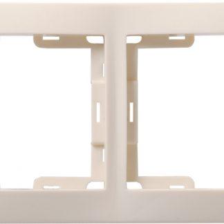 Рамка 2-местная вертикальная РВ-2-ККм КВАРТА кремовый IEK