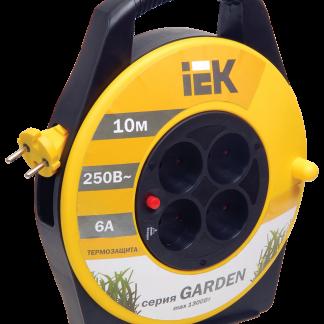Катушка УК10 с термозащитой 4 места 2Р/10м 2х0,75мм2 Garden IEK