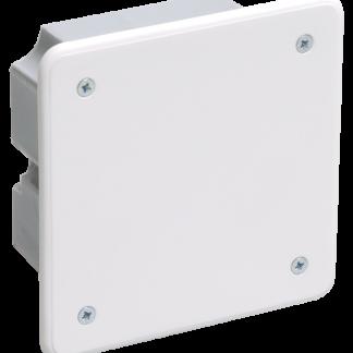 Коробка распаячная КМ41001 92x92x45мм для твердых стен (с саморезами, с крышкой) IEK