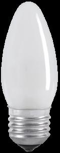Лампа накаливания C35 свеча матовая 40Вт E27 IEK