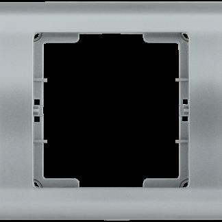 Рамка 3-местная горизонтальная РГ-3-БС BOLERO серебряный IEK
