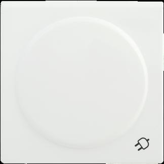 Накладка розетка НР-3-1-ББ с заземляющим контактом с крышкой BOLERO белый IEK