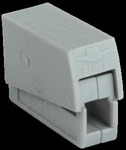 Строительно-монтажная клемма СМК 224-101 для светильников (4шт/упак) IEK