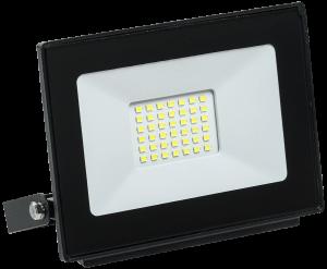 Прожектор светодиодный СДО 06-30 IP65 4000K черный IEK